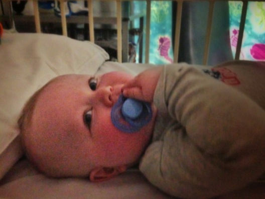 Mattie back in hospital and not sleeping for Mummy - it's time to play!
